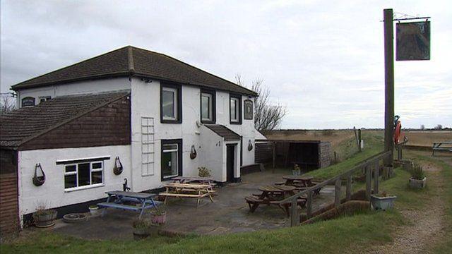 Berney Arms pub near Great Yarmouth