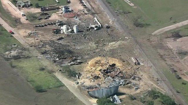 Aerial picture of site of fertiliser plant