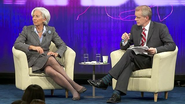 Christine Lagarde with Stephen Sackur