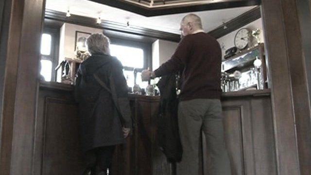 Customers at bar