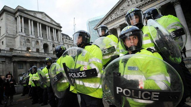 Metropolitan police officers on duty in the City of London