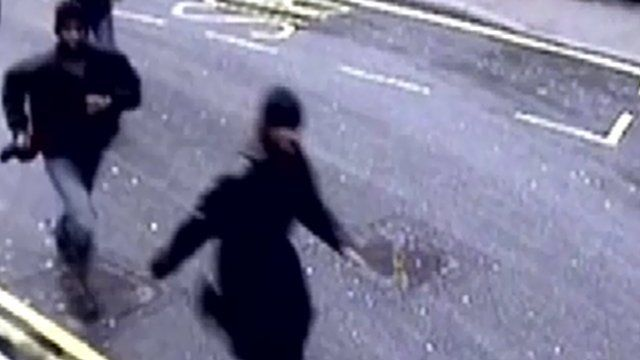 Defendants were captured on CCTV running towards Victoria Station
