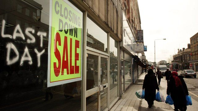 Shop closing down sale on Kilburn High Road, London
