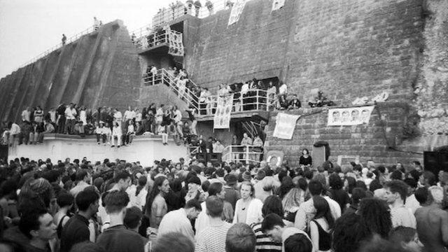 Stuart Griffiths's illegal rave photograph