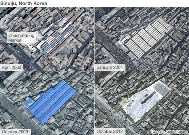 Peering into the North Korean economy, via satellite
