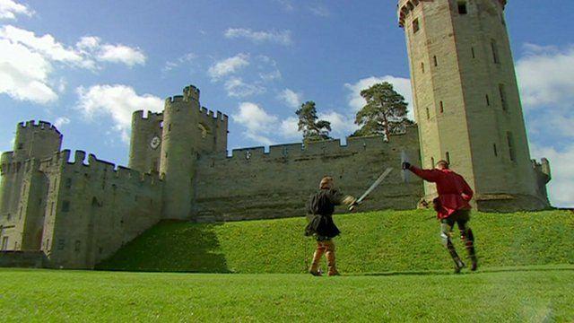 Mock battle at Warwick Castle