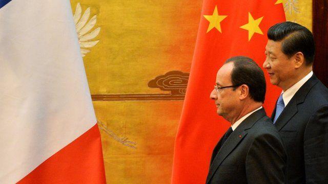 Francois Hollande in China