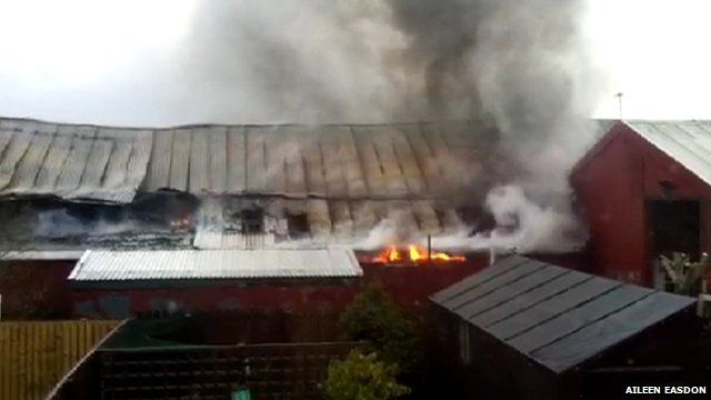 Fire at an industrial unit