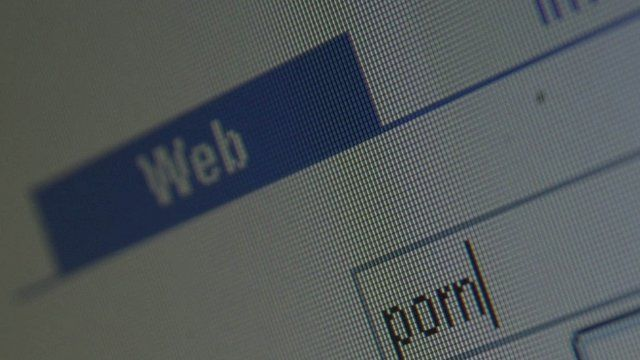 Computer internet website search for pornography