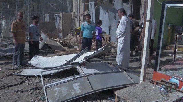 Damaged shop front