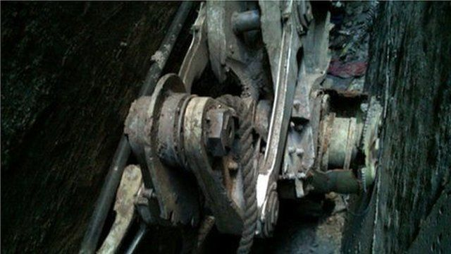 Landing gear, picture courtesy of NYPD, 26 April 2013