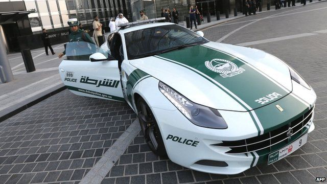 Awesome Media Player Dubai Policewoman And Ferrari Patrol Car