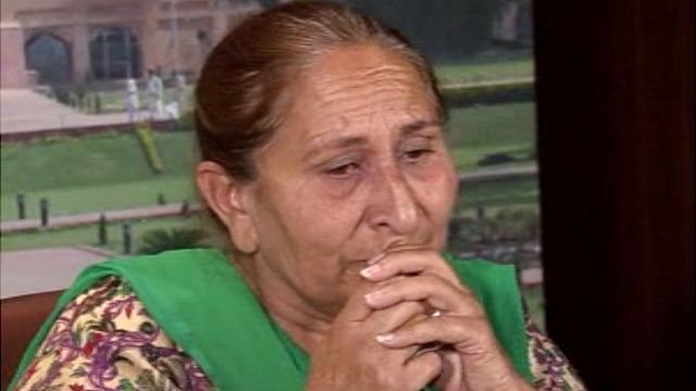 Dalbir Kaur, sister of Sarabjit Singh, speaking about her brother's condition