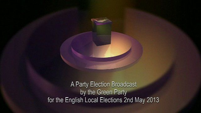 A party election broadcast by the Green Party for the English local elections on 2 May 2013