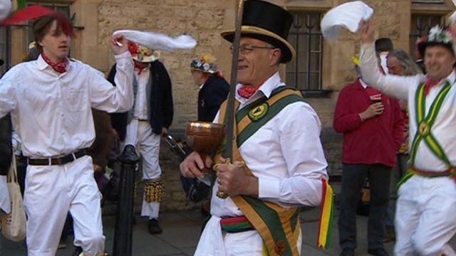 Morris men in Oxford on May Day 2013