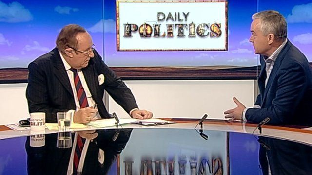 Andrew Neil and Huw Edwards
