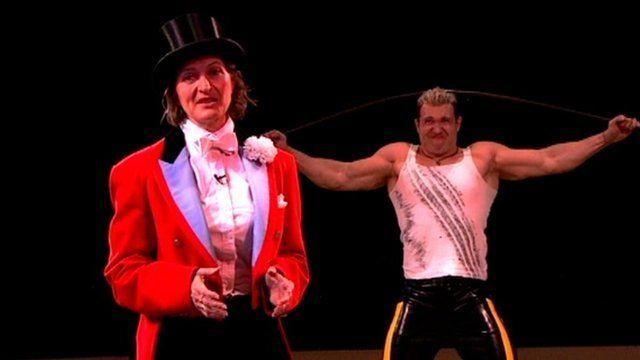 Mary Ann Sieghart in circus ring