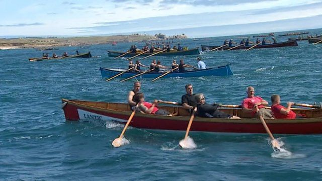 Gig racing off the Isles of Scilly