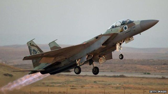 An Israeli fighter. File photo