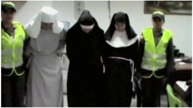 The fake nuns under arrest