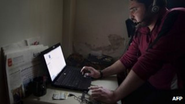 Syria 'cut off from the internet'