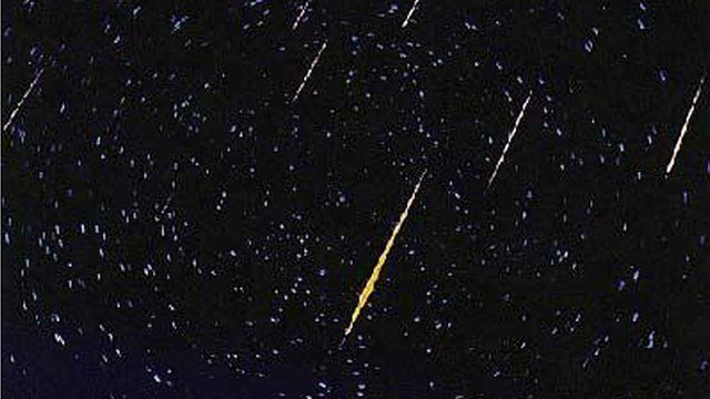 A meteor showing caught on camera in 2012.