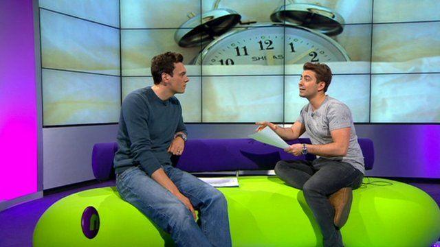 Joe and Ricky in the studio