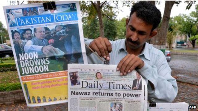 Pakistan press celebrates landmark elections