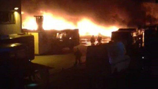 Fire at Summercourt bus depot
