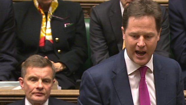 Nick Clegg at PMQs