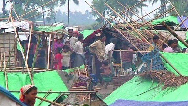 A camp housing Rohingya Muslims in Rakhine state