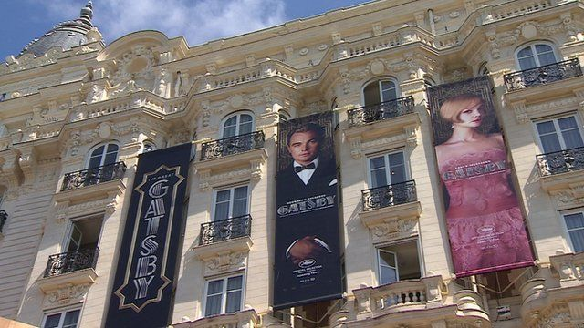 Banners advertising the Great Gatsby