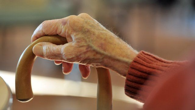 Pensioner's hand
