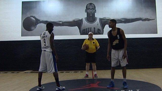 Adam Boulton and basketball players