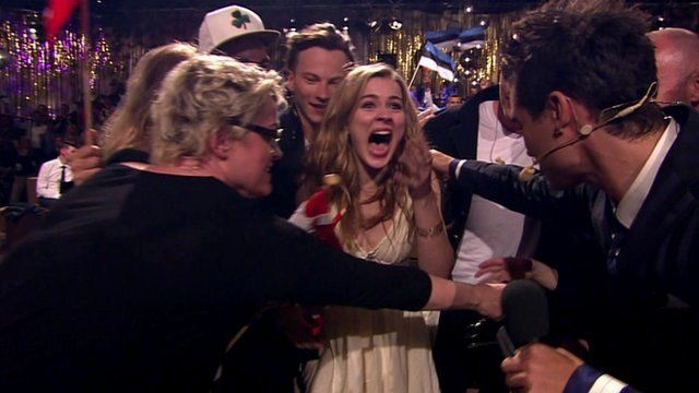 The moment Emmelie de Forest realised she had won