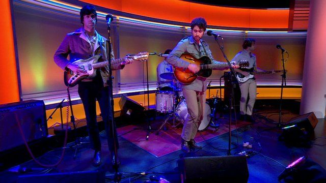 The Allah-Las perform live on the Andrew Marr Show