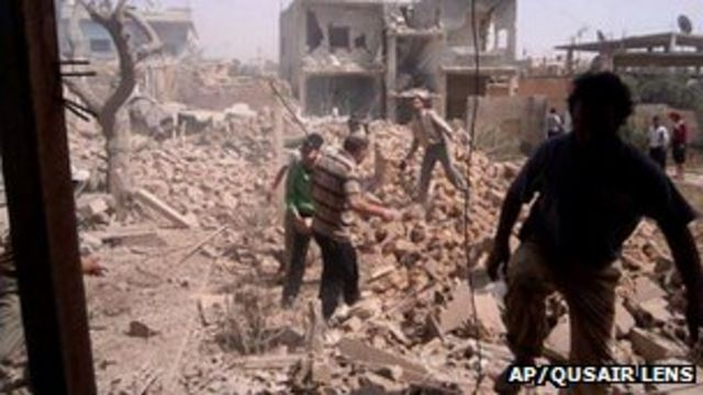 Syrian army storms rebel town of Qusair