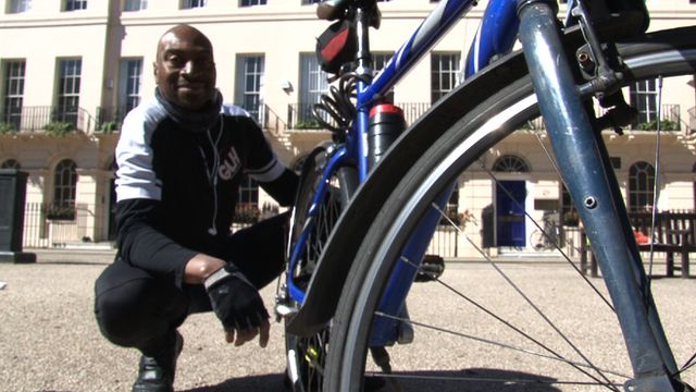 Bicycle courier Steve Hamilton