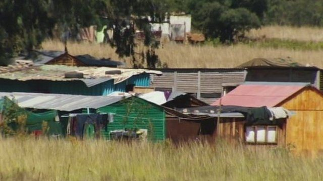 A South African squatter camp