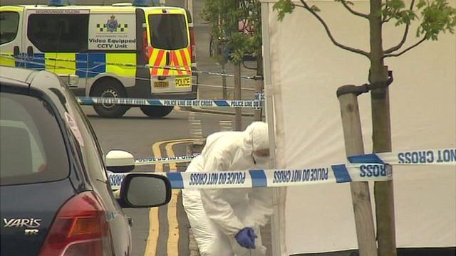 Scene of the shooting in Luton