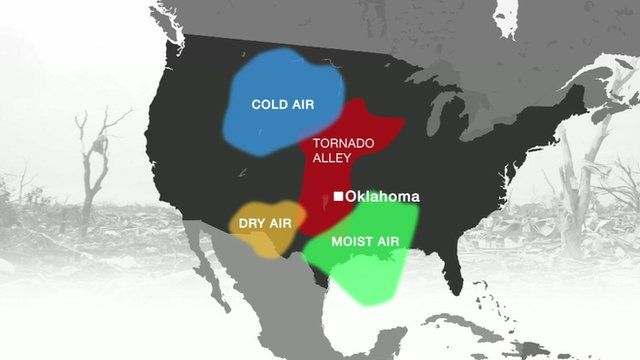 Graphic shows why tornadoes form around Oklahoma
