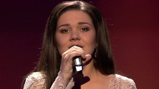 Russia's Dina Garipova singing at Eurovision