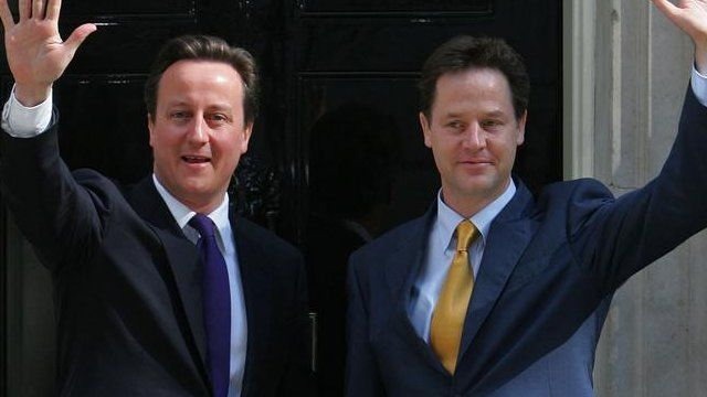 Image result for Cameron clegg coalition