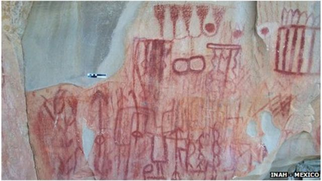 Cave paintings in Mexico: Carvings uncovered in Burgos