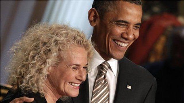 Carole King and Barak Obama
