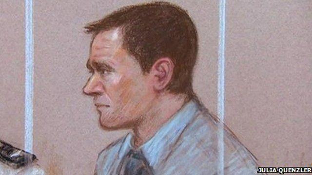 Court drawing of Mark Bridger
