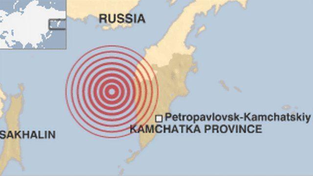Map of the area where the quake originated