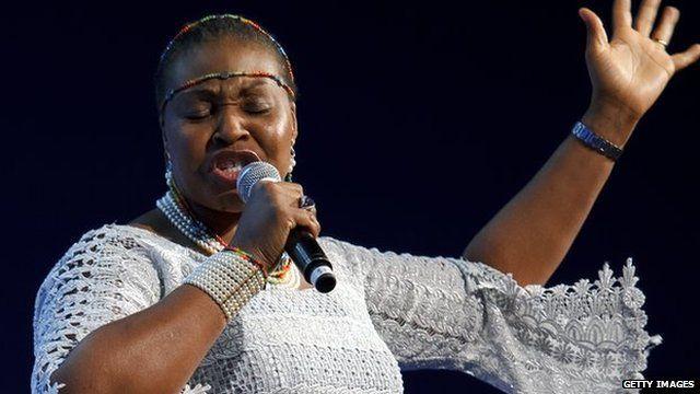 South African singer Yvonne Chaka Chaka