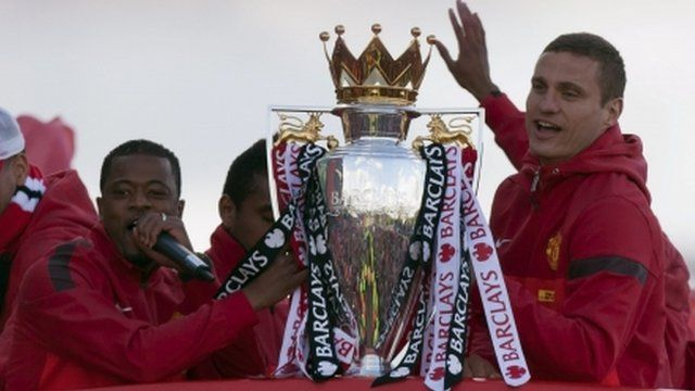 Manchester United players with trophy