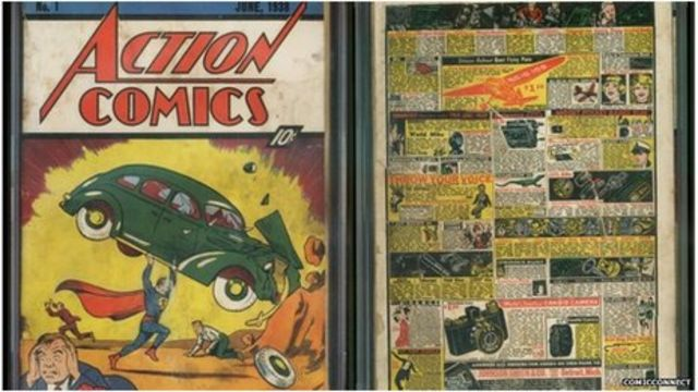 Superman comic 'found in wall' could fetch record price